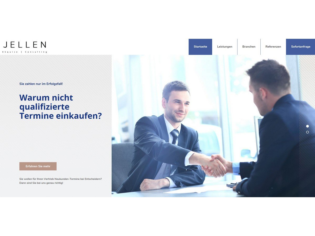 Homepage-Jellen-Akquise-Telefonverkauf-Leads-Landingpage