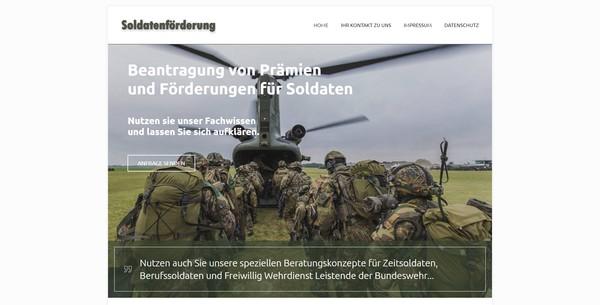 Soldaten-Foerderung