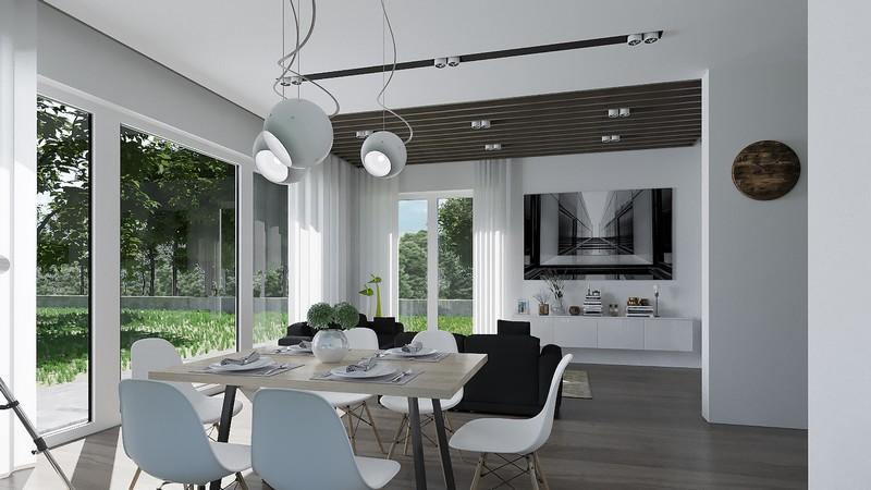3D Visualisierung Interior Wohnzimmer