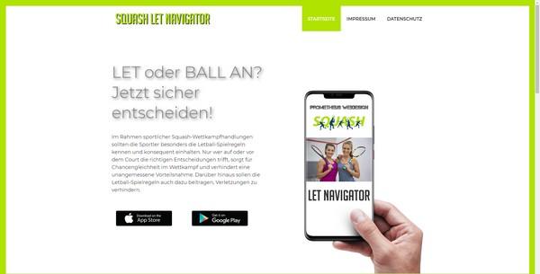 Squash-App Let Navigator herunterladen