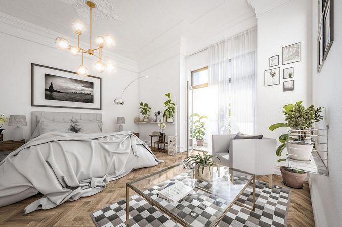 3D-Visualisierung (Innenraumvisualisierung) Schlafzimmer