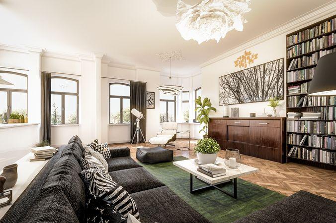 3D-Visualisierung (Innenraumvisualisierung) Wohnzimmer