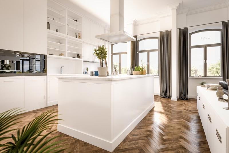 3D Innenraumvisualisierung einer Küche