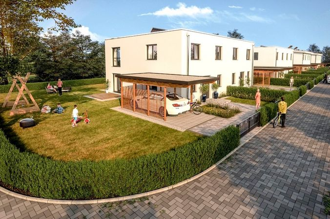 Architekturvisualisierung Baugebiet Neubau Immobilie